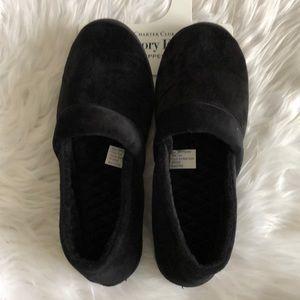 NWOT Charter Club Black Memory Foam Slippers
